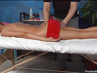 Cute 18 year old asian cutie acquires fucked hard by her massage therapist