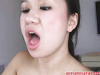 Carmina is an oriental wench without gag reflex. This Babe takes a ramrod all the way down her face hole and holds it for a during the time that. Then Carmina acquires her shaved cum-hole fucked then the ramrod goes right back into her mouth. This Babe jerks off Thoma