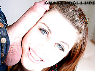 Brooke is a very cute dilettante teen cutie. That Hottie responded to our web site and wanted some passion and Ray's large wang. That Hottie gets down on her knees and begins sucking then Ray face fucks her. As Ray continues to pound her tight bawdy cleft this hottie groans ever so softly until Ray discharges his load all over her muff.
