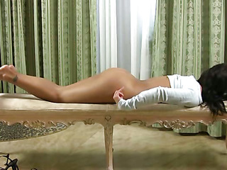 Youthful pair finds the superlatively fine position for inserting big cock