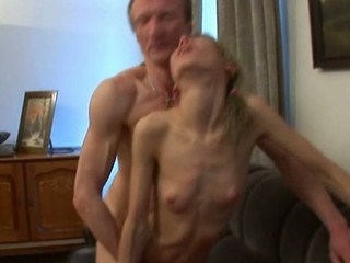 Babe is having wild three-some with dude and old teacher