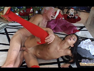 This old guy finds out on the Christmas morning a cute darksome brown doll under his tree. But this doll is a real young hotty sent to make him glad with wonderful hardcore: oldyoung fuck, fellatio, doggy style and greater amount
