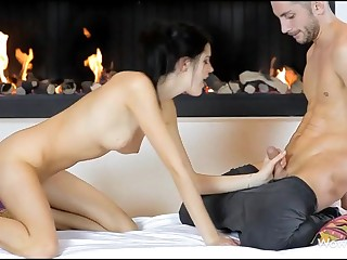 Stunning hotty giving great fellatio sex previous to vaginal insertion