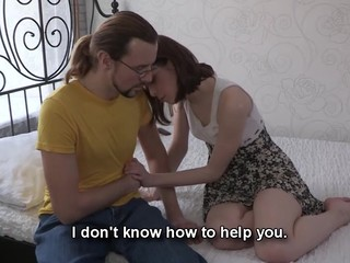 This nerdy chap can't satisfy his girlfriend the one and the other financially and sexually. However, there is one way to solve these problems at once if that chap lets her rich Internet ally fuck her for money. That Man knows his hottie desires a valuable fuck and a new dress and even though watching her suck and ride that gracious lad's ramrod makes him desperately jealous this chab stays throughout the entire action to be there when this sweetheart acquires the nearly all astonishing agonorgasmos ever. Screwed up love as it is!