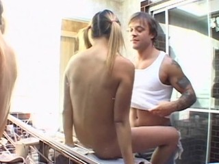Stud licks fresh clean shaved fur pie and then copulates angel hard