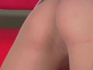 Excited hotty tries to shove her finger inside twat through tights