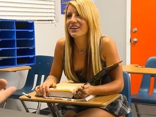 Kinky teacher examines hotty