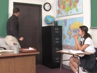 Teacher thinks it is time for his student to try a older penis