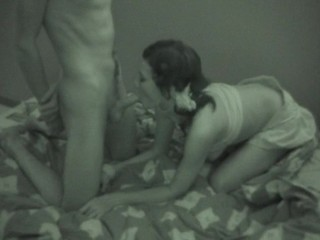 Find out the hot teen sex scene in a black-and-white quality