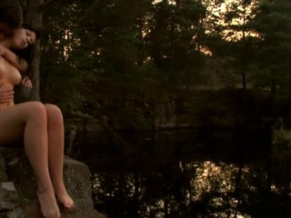 Find out a passionate legal age teenager fucking scene outdoors during sunset