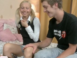 Fascinating teen tastes an experienced aged weenie