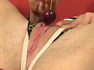 Honey is experiencing heavenly pleasures with dildo play