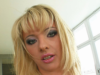 Deepthroating and hard sex are exactly the things that this little blond slut needed. That babe receives absolutely destoryed before swallowing a large load of goo.