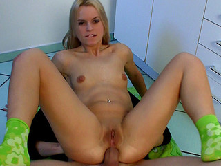 Czech angel Sabrina Golden-haired acquires extreme sized ramrod up in her constricted butt