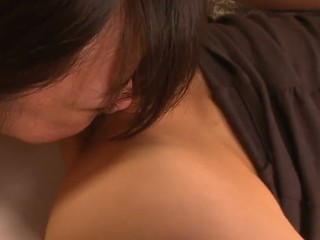 School beauty Aoba Itou gets into a naughty threesome with her boss and his wife and enjoys in pleasing 'em one as well as the other- her with a valuable cum-hole licking and fingering session and him with a naughty penis sucking on her knees in this threesome session in the bedroom